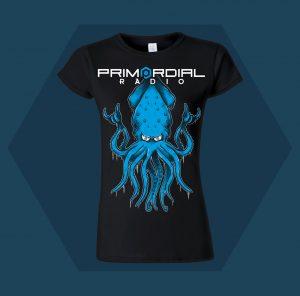 Primordial Radio Squid Womens T-shirt