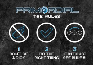 The Rules according to Primordial Radio Poster