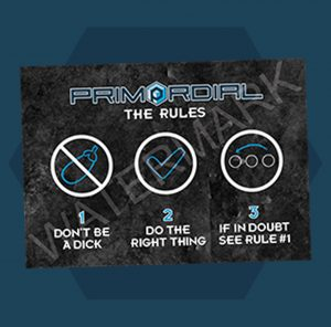 Primordial Radio - The Rules Poster