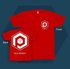 #lovemusic mens t-shirt