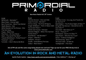 Primordial-Radio-Playlist-Updates-30th-October-2018