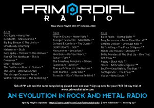 Primordial Radio Playlist Updates - 8th October 2019