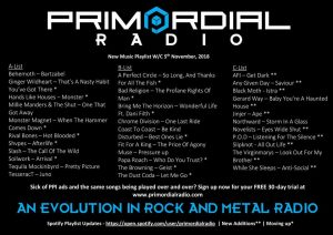 Primordial-Radio-Playlist-Updates-6th-November-2018