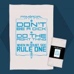 Primordial Radio The Rules Tea Towel