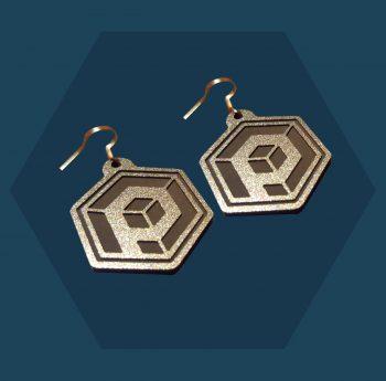 Silver Outline Primordial Radio Earrings