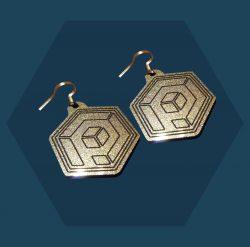 Primordial Radio Silver Solid Earrings