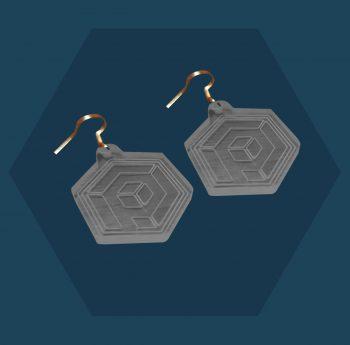 Primordial Radio Clear Solid Earrings