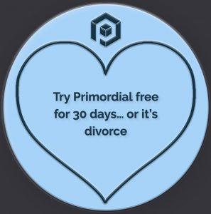 Primordial Radio Love Hearts