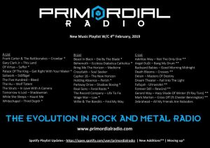 Primordial Radio music updates 5th Feb 2019