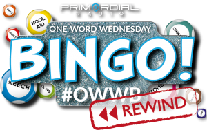 One Word Wednesday Bingo Rewind Logo