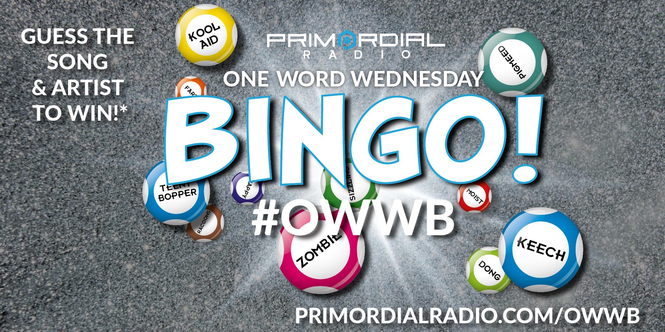 One Word Wednesday Bingo Logo