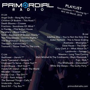 Primordial Radio Playlist update 4th march 2019