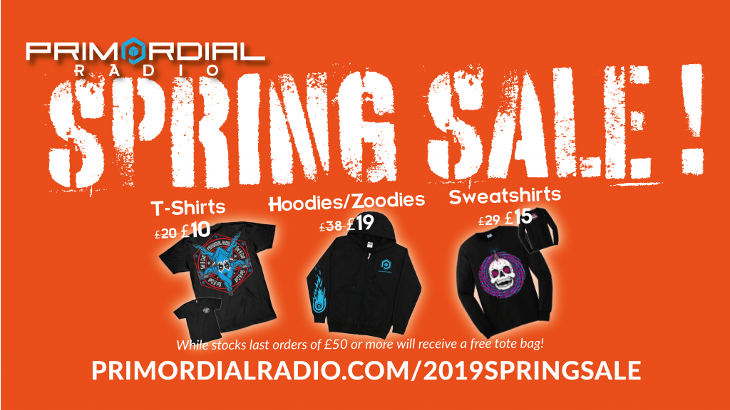 Primordail Radio Merch SpringSale