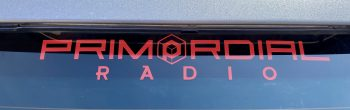 Red Primordial Radio Car Sticker