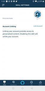 Primordial Radio Alexa Skill - Link Accounts Screenshot