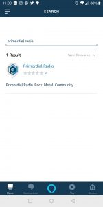 Primordial Radio Alexa Skill - Seach for Skill screenshot