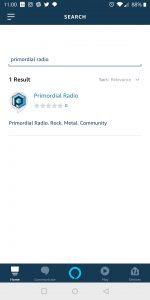 Primordial Radio Alexa Skill - Seach for Skill screenshot
