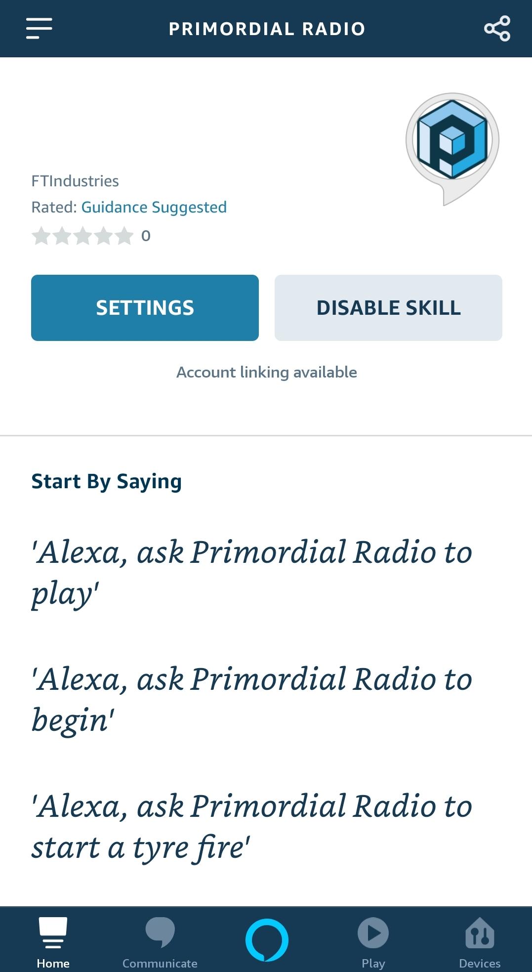 Primordial Radio Alexa Skill image