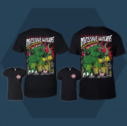 Massive Wagons Kings of the Monsters of Rock Black Tshirts