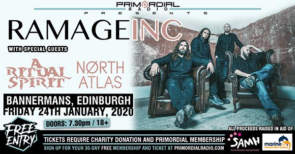 Primordial Presents Live - Edinburgh Flyer