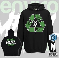 EnviroMETAL Black hoodie from Primordial Radio