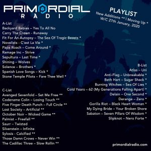 Primordial Radio Playlist Update 28th Jan 2020