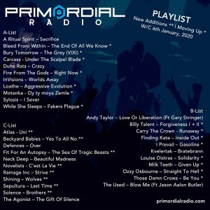 Primordial Radio Playlist Update 6th Jan 2020