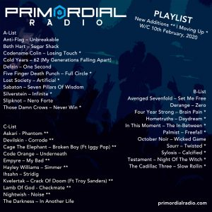 10th Feb Primordial Playlist Update
