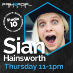 Sian in Studio 10 for Primordial Radio