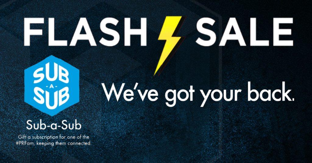 Flash Sale Sub-a-Sub
