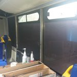The bus gets tinted windows