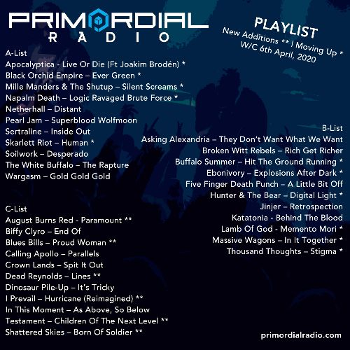 2nd March Primordial Playlist Update