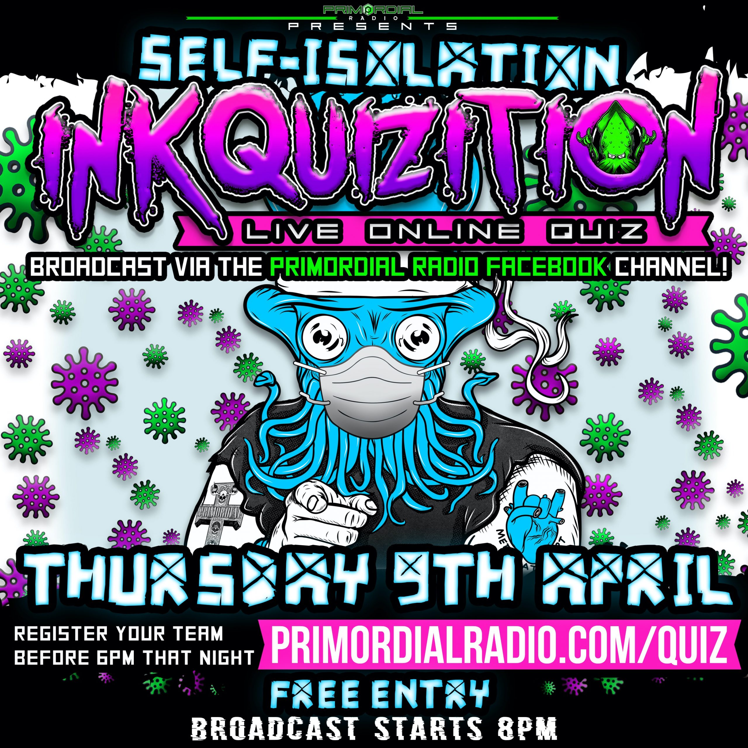 Inkquizition quiz Flyer 2nd April