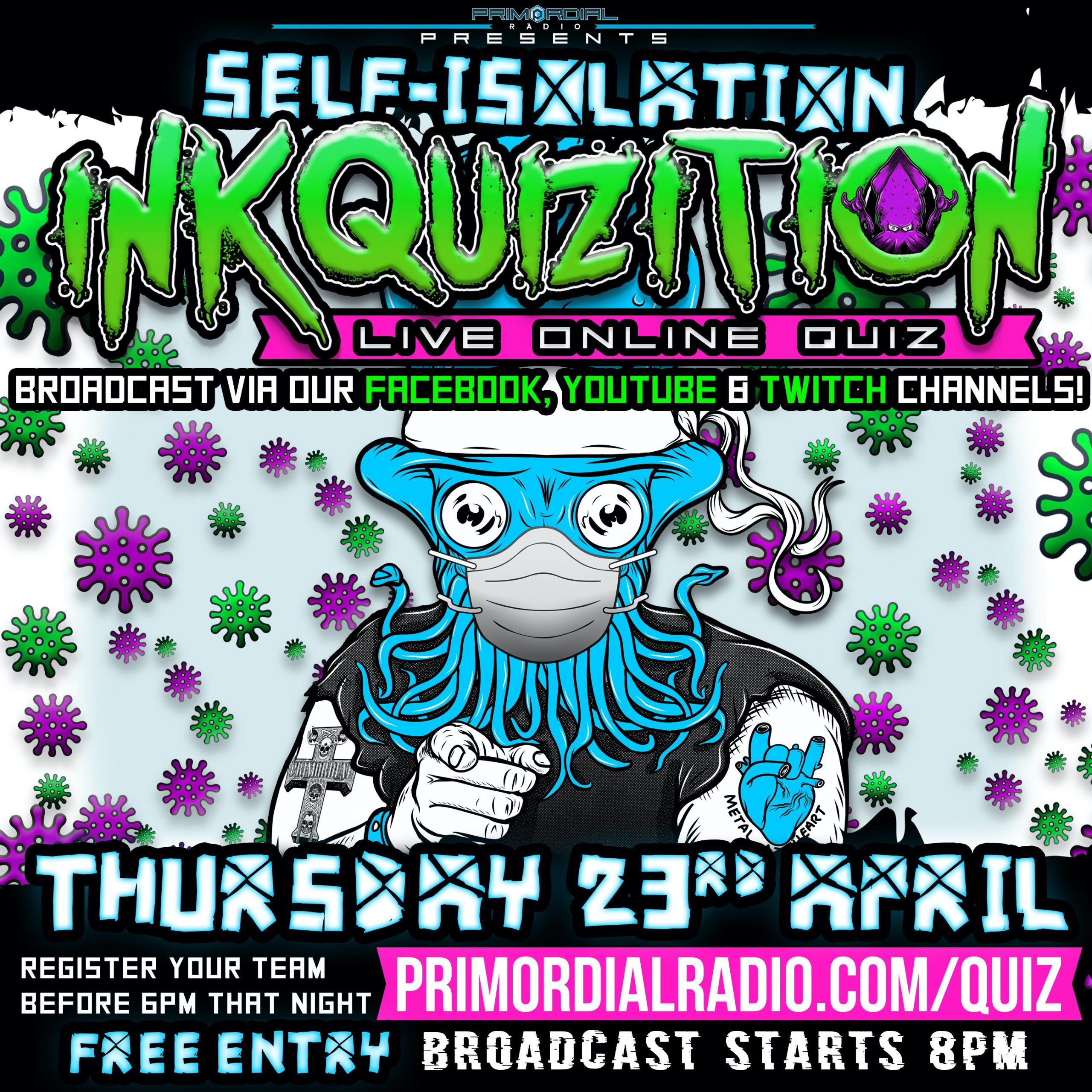 Inkquizition Quiz flyer 23rd April Square Flyer