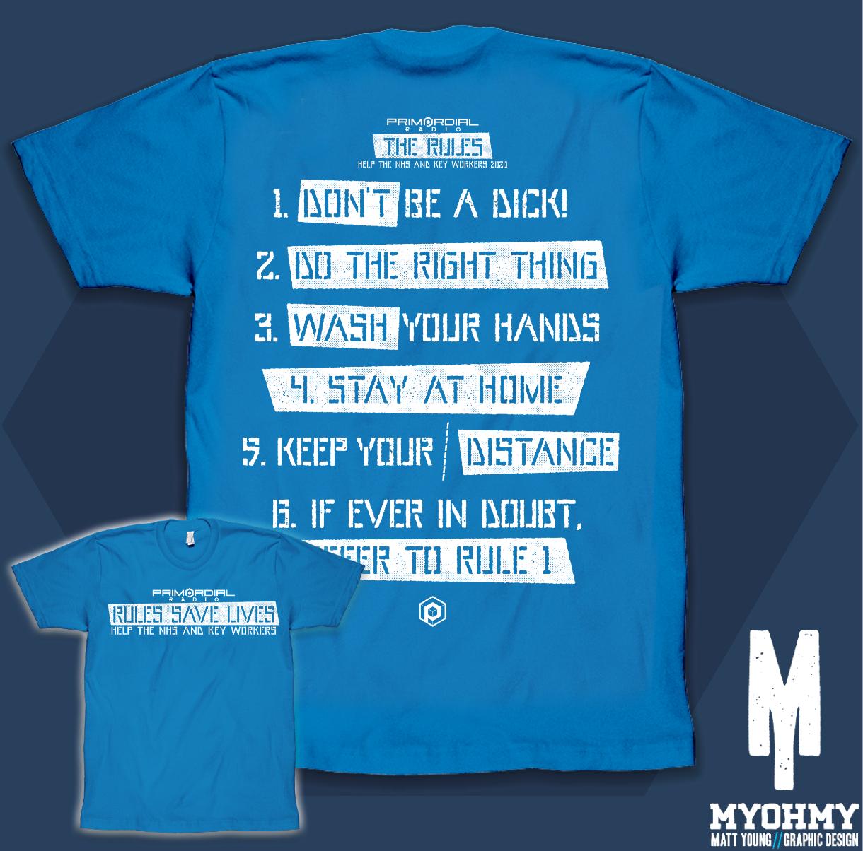 nhs rules t-shirt