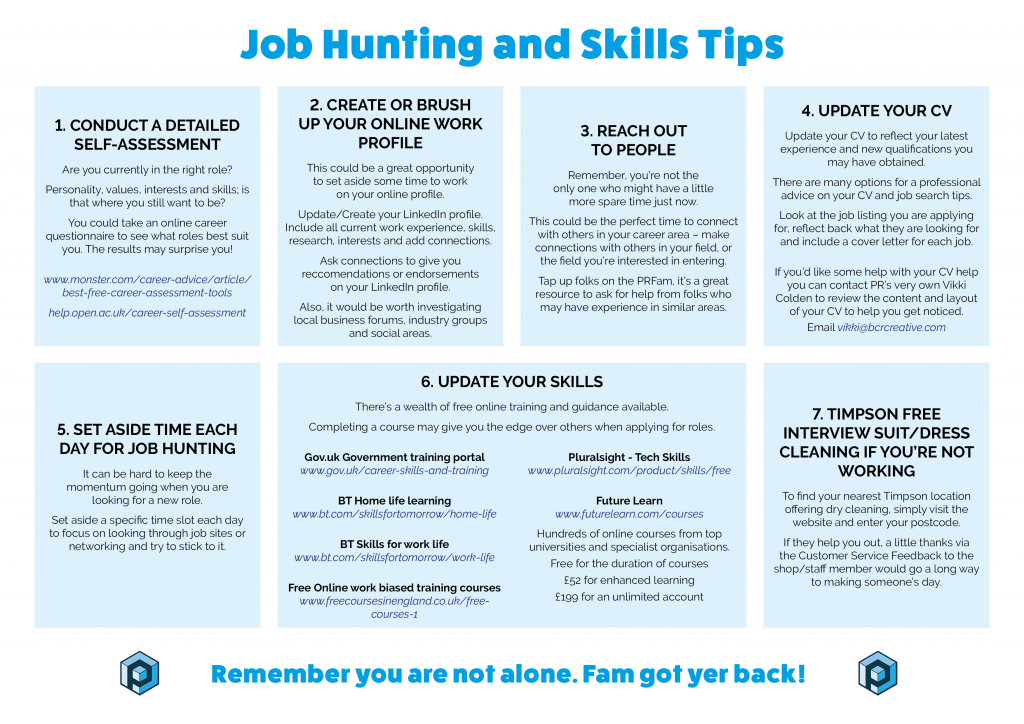 Job Hunting and Skills Tips on Monday Motivation