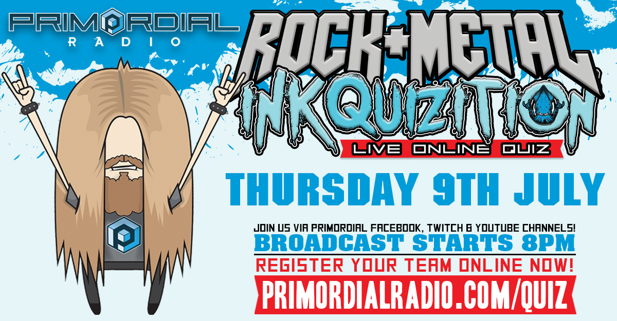 The Rock and Metal Quiz - The Inkquizition 9th July Flyer