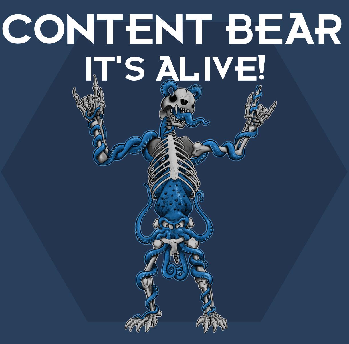 Content Bear prfam designed merch