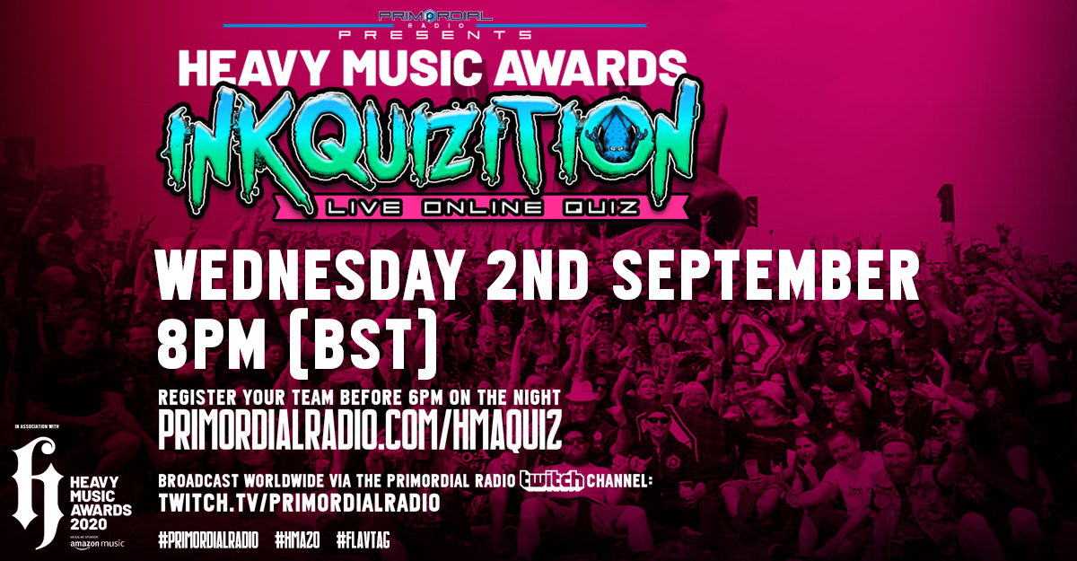 The Heavy Metal Music Awards Inkquizition 2nd September 2020