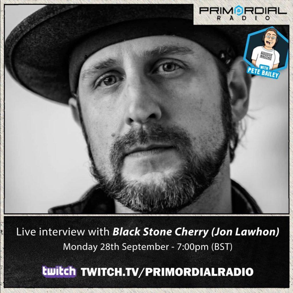 Jon Lawhon Black Stone Cherry Primordial Radio Interview