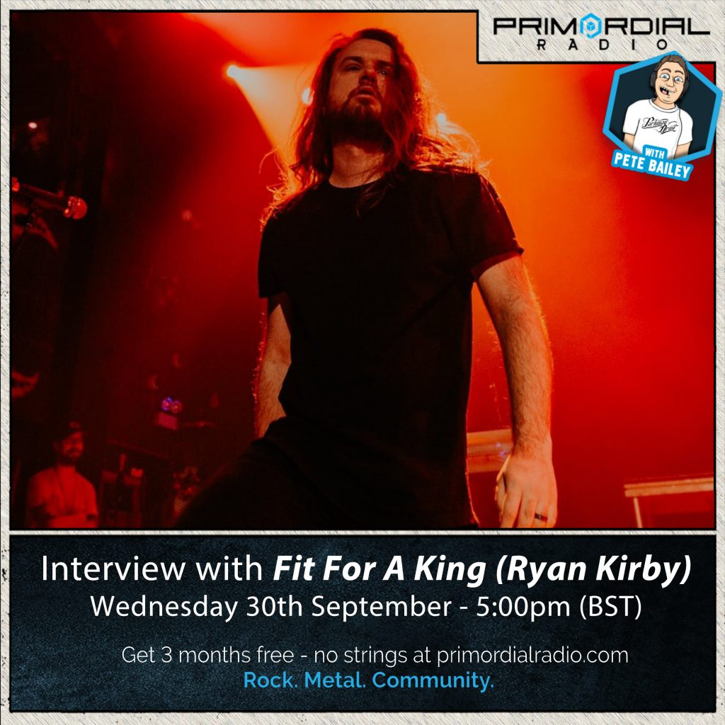 Ryan Kirby Fit for a King Interview