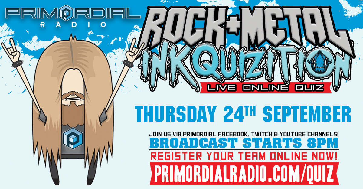 The Rock and Metal Quiz - The Inkquizition 24th September Flyer