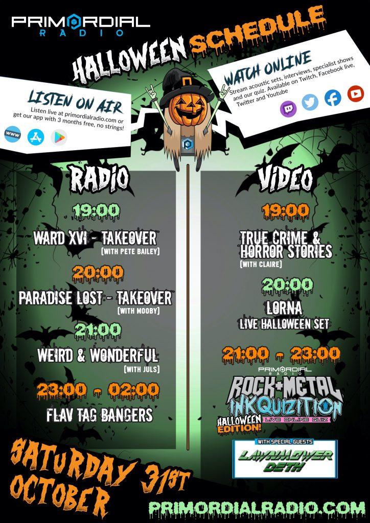 Halloween Schedule 2020
