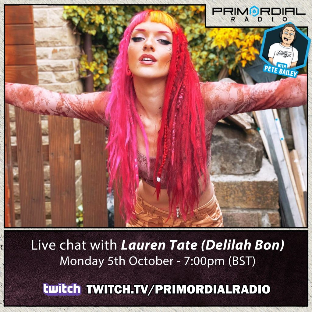 Lauren Tate on Primordial Radio Twtich