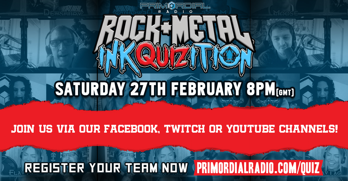 Rock and Metal Quiz - The Inkquizition returns February 27th 2021