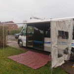Primordial Radio Inkubus Camper - awning partyly assembled