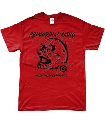 Black Skull on Red TShirt