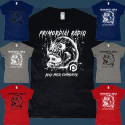 Ladies Style Skull Design Rock and Metal T-Shirt