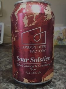 London Beer Factory - Blood Orange and Cranberry Sour