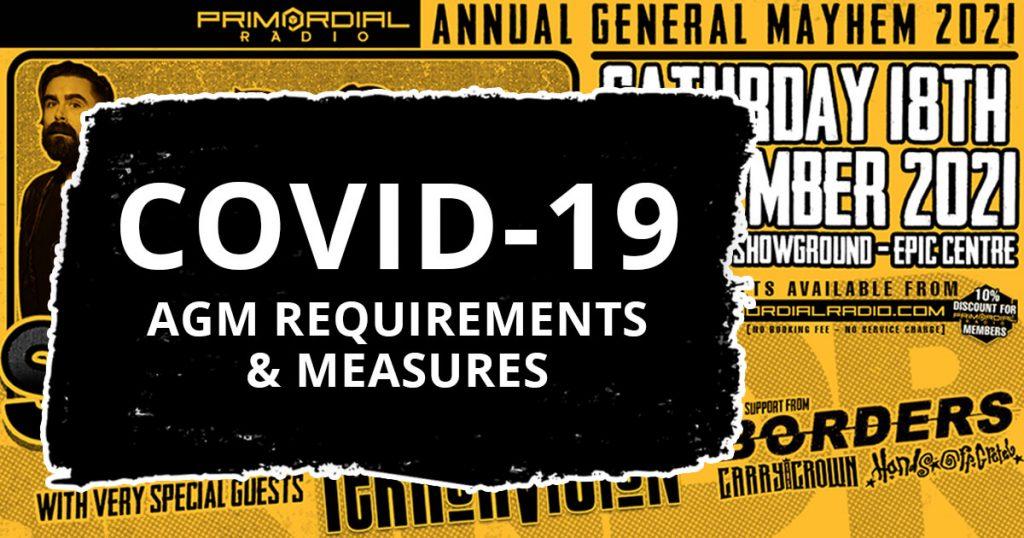Primordial Radio AGAM 2021 Covid Measures Artwork